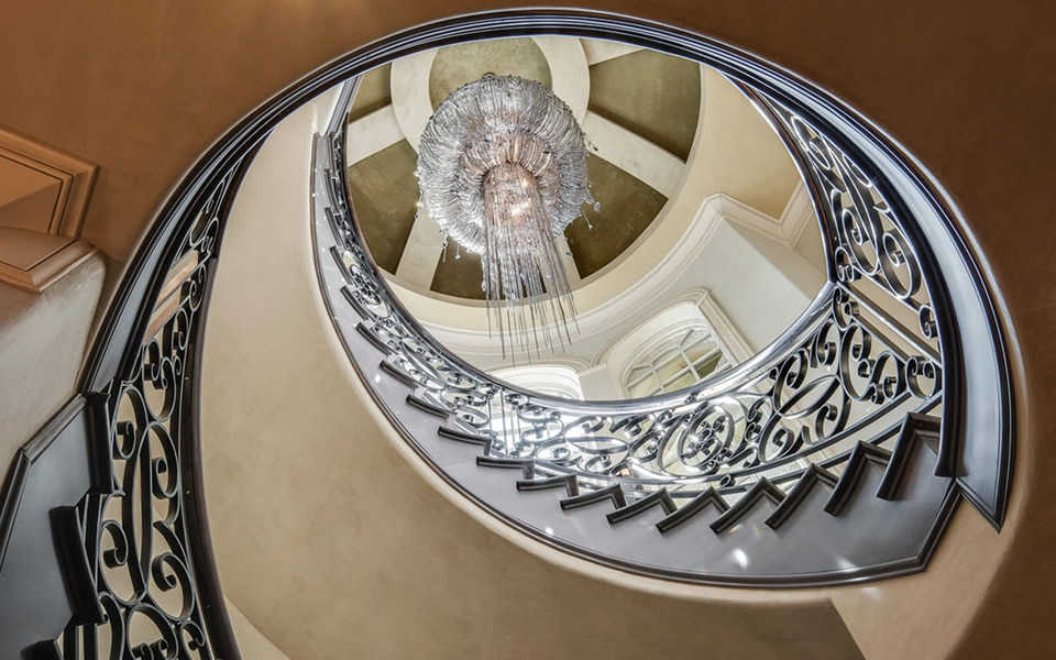 Venetian Plaster Dome in $5M Home by Plaster Artistry
