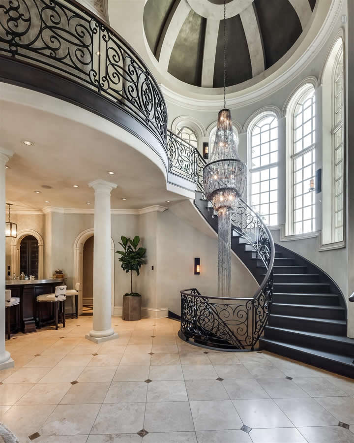 Metallo and Stone Venetian Plaster Dome in $5M Home